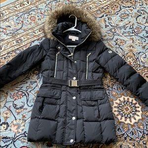Michael kors fur hood winter jacket